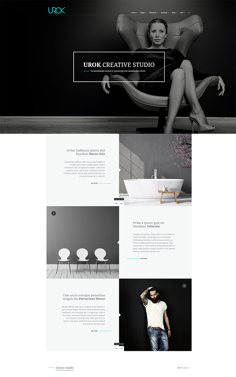 UROK - one page template